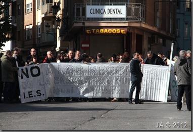 Manifestación en Utiel_Servicios Públicos_Feb 2012